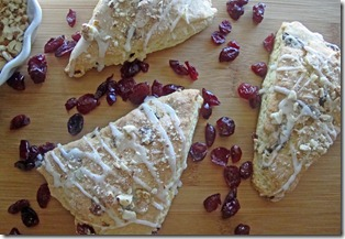 Almond-Cranberry Scones - Bake Your Day