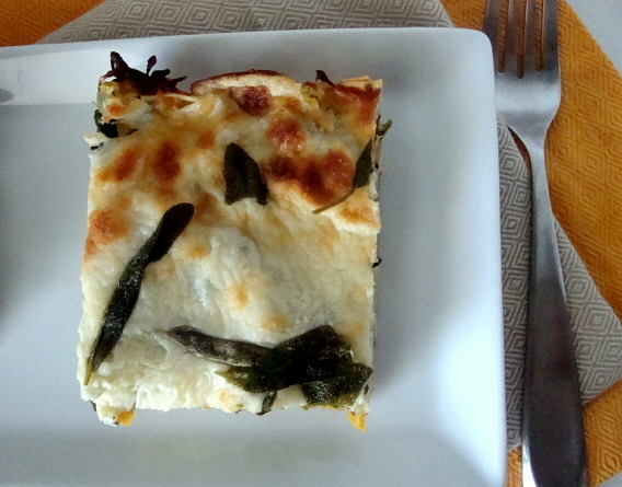 butternut squash and sage lasagna