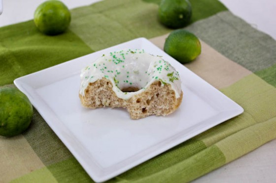 Key Lime Cream Cheese Frosted Donuts