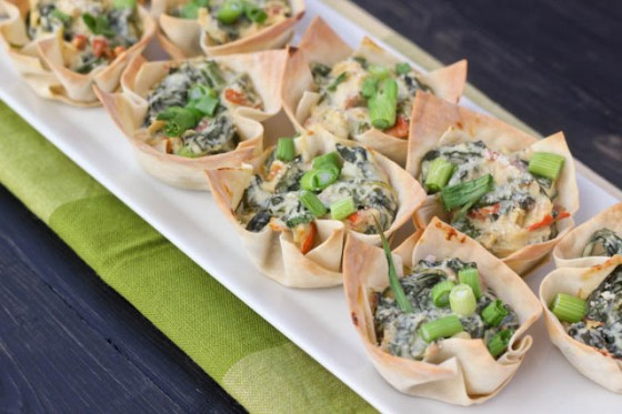 Baby Spinach Cups