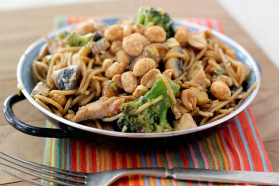 Spicy Stir Fried Chicken And Greens With Peanuts Recipe ...