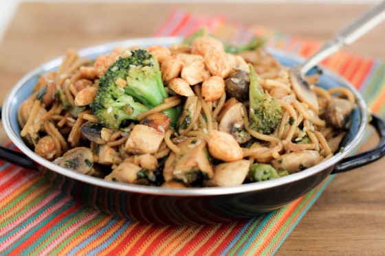 Spicy Stir Fried Chicken And Greens With Peanuts Recipes — Dishmaps