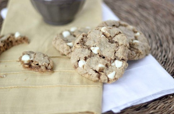 Biscoff Oatmeal White Chocolate Chip Cookies