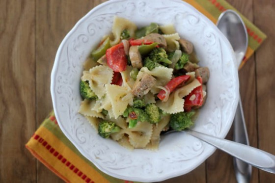 Creamy Chicken Sausage And Broccoli Pasta Recipe — Dishmaps