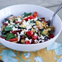 Balsamic Greek Veggie Bowl | Bake Your Day