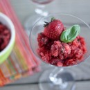 Balsamic &amp; Basil LemonBerry Granita | Bake Your Day