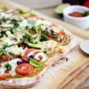 Mexican Veggie Flatbread | Bake Your Day #TomatoLove