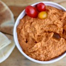 Truffle-Roasted Tomato Hummus | Bake Your Day #TomatoLove