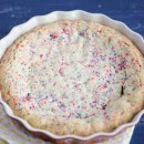 White Chocolate Confetti Cookie Pie | Bake Your Day