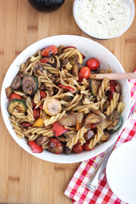 Balsamic Pasta Salad with Grilled Veggies