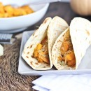 Roasted Butternut Squash Tacos with Caramelized Onions &amp; Parmesan