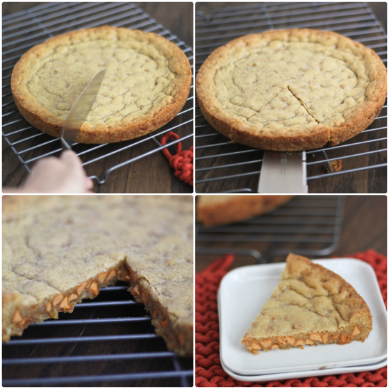 Butterscotch Chip Cookie Cake