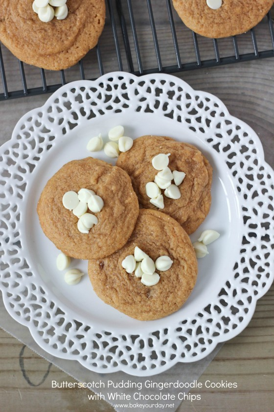 Butterscotch Pudding Gingerdoodle Cookies with White Chocolate Chips