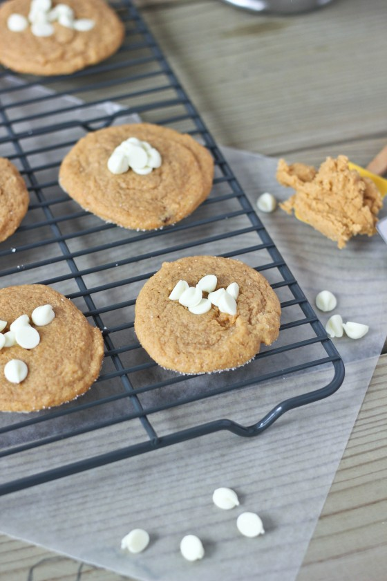 Butterscotch Pudding Gingerdoodle Cookies with White Chocolate Chips | bakeyourday.net
