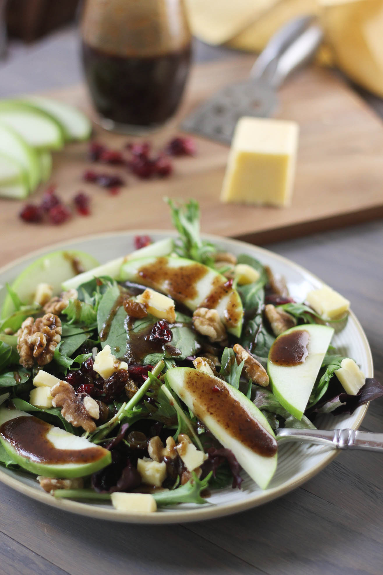 Cheddar & Apple Winter Salad | Bake Your Day