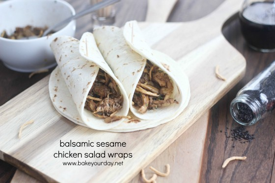 Balsamic Sesame Chicken Salad Wraps 