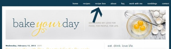 Recipe Box at Bake Your Day