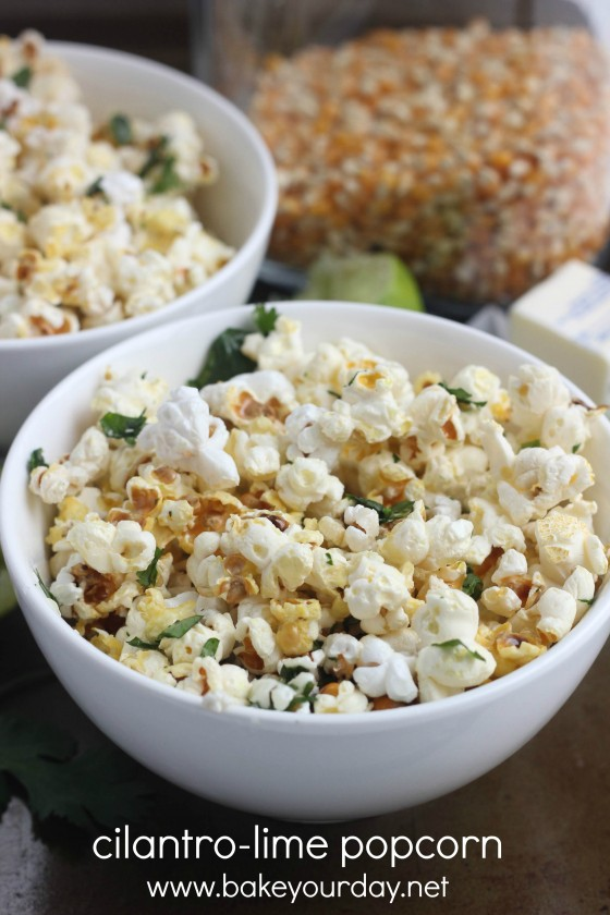 Cilantro-Lime Popcorn | Bake Your Day