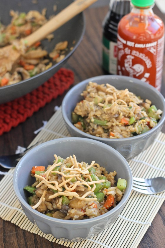 Veggie Sriracha Fried Rice