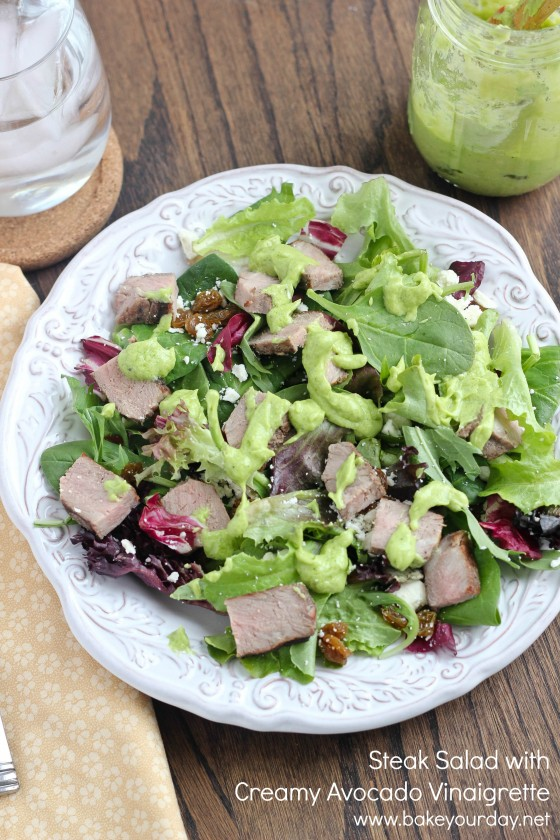 Steak Salad with Creamy Avocado Vinaigrette