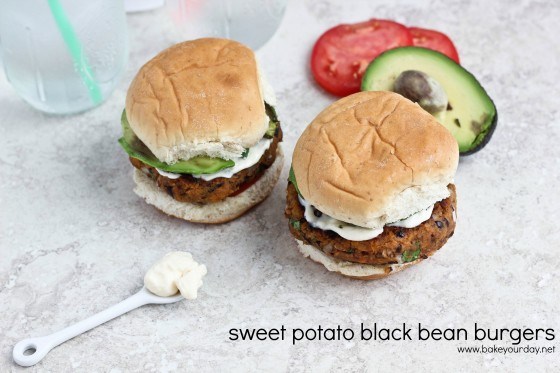 Sweet Potato Black Bean Burgers