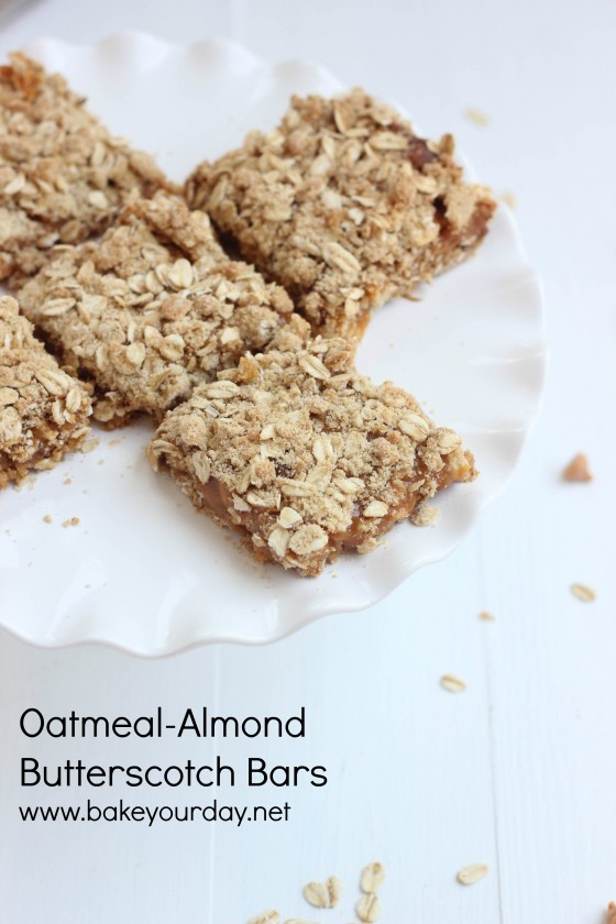 Oatmeal Almond Butterscotch Bars