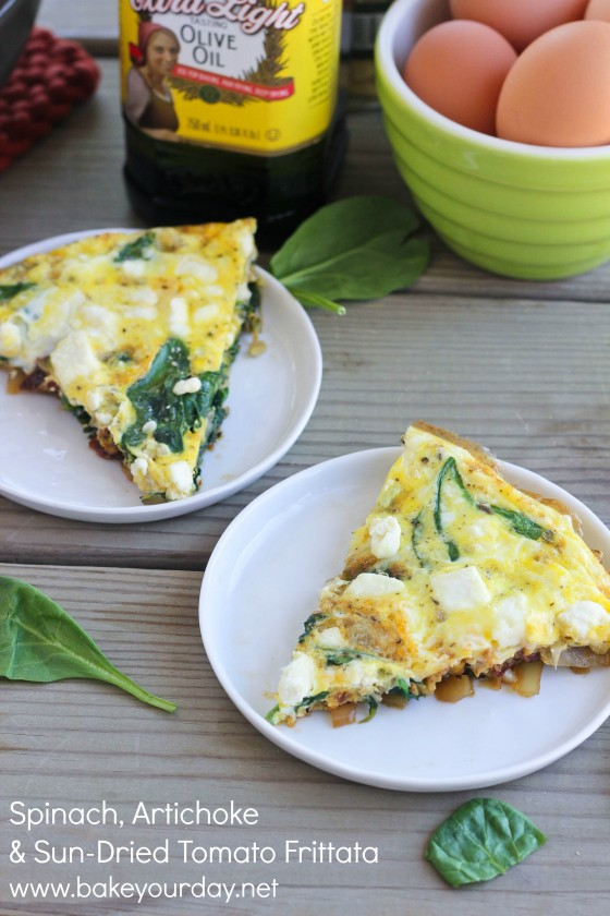 Spinach, Artichoke &amp; Sun-Dried Tomato Frittata