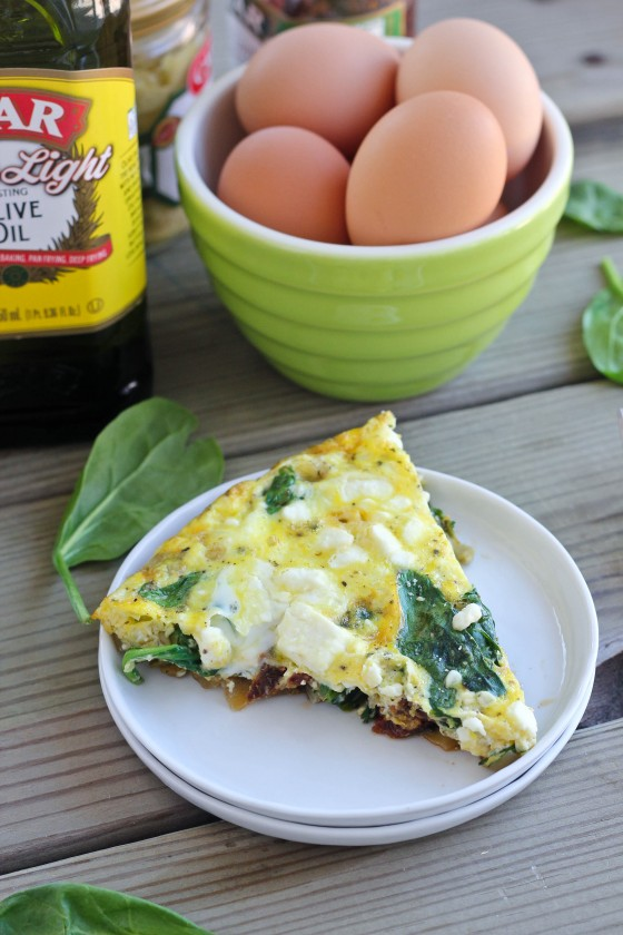 Spinach, Artichoke & Sun-Dried Tomato Frittata | Bake Your Day