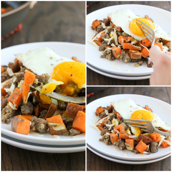 Sweet Potato & Maple Sausage Breakfast Skillet
