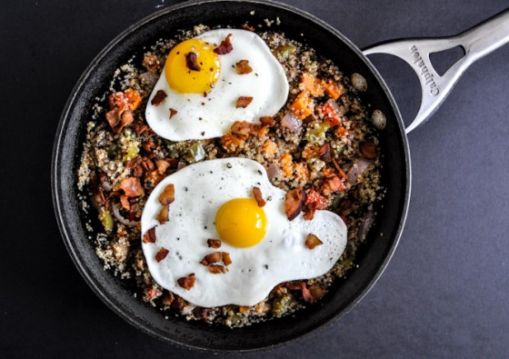 Quinoa Breakfast Skillet by How Sweet Eats