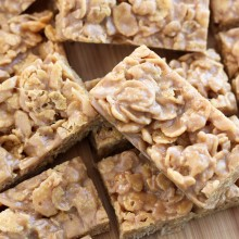 No Bake Peanut Butter Cornflake Bars