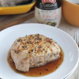 Garlic-Bourbon Glazed Pork Chops