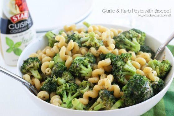 Garlic & Herb Pasta with Broccoli