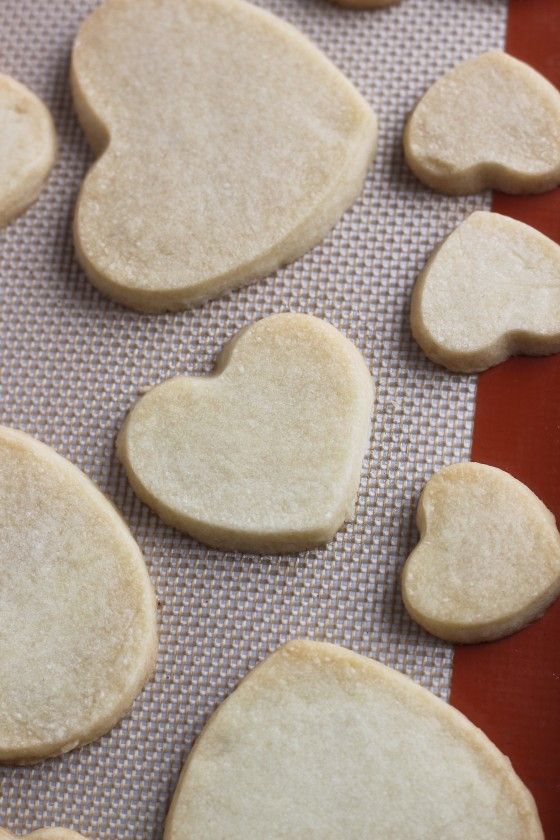 Heart-Shaped Frosted Shortbread Cookies