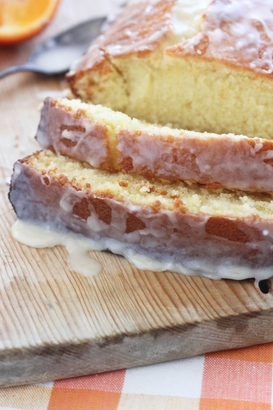 Glazed Vanilla Bean Tangelo Quick Bread