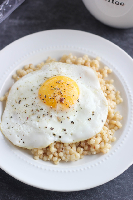 Parmesan-Asiago Breakfast Couscous