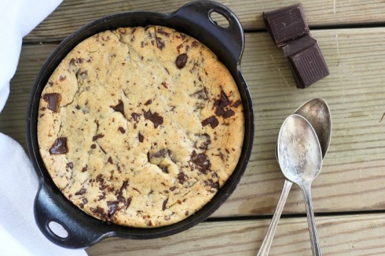 Single-Serve Chocolate Chip Skillet Cookie