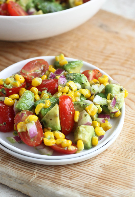 Avocado, Tomato & Corn Salad | Bake Your Day