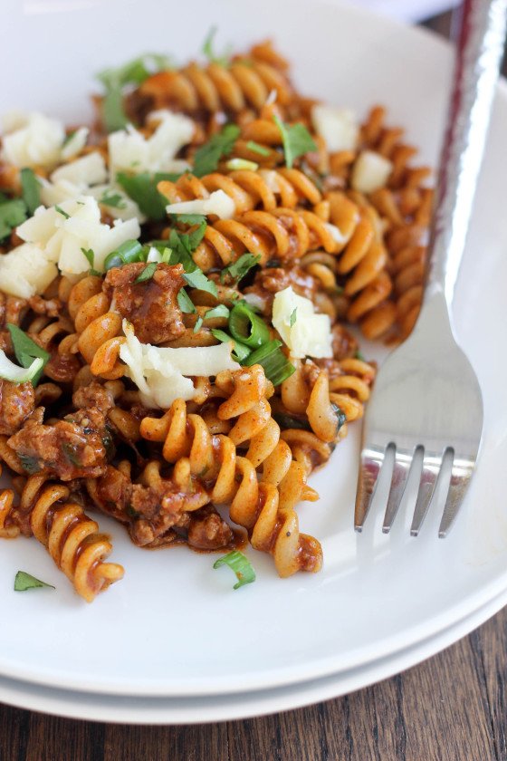 Beef Enchilada Pasta Recipe