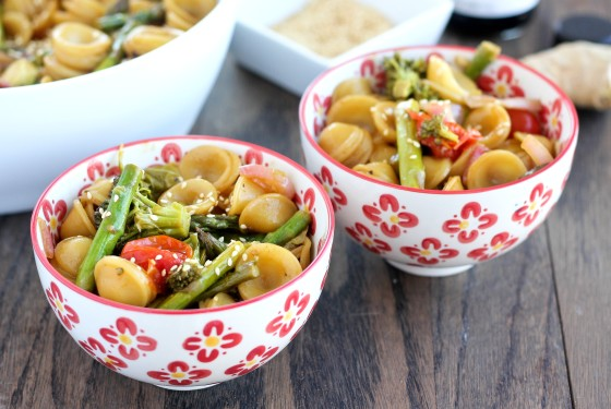 Asian Roasted Vegetable Pasta | Bake Your Day
