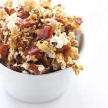 Maple Bacon Bourbon Popcorn from Bake Your Day