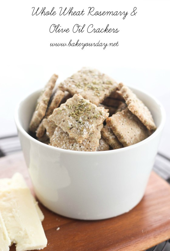 Whole Wheat Rosemary & Olive Oil Crackers