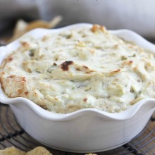 Beer Caramelized Onion & Artichoke Dip