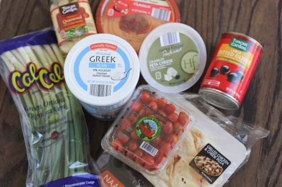 Greek 7 Layer Dip Ingredients