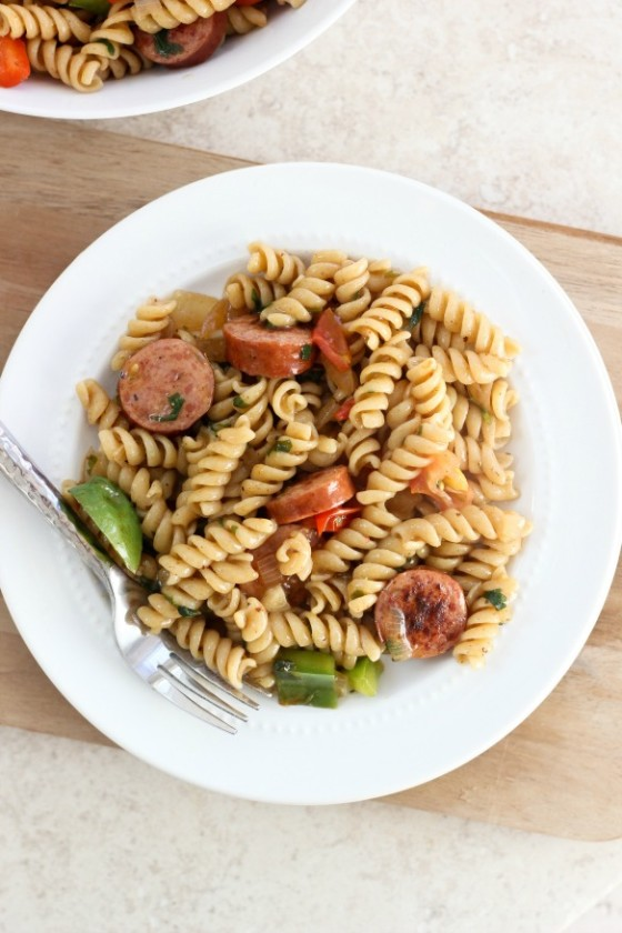 Spicy Gumbo Pasta with Smoked Sausage